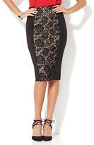 New York & Co. 7th Avenue Design Studio - Lace-Panel Pencil Skirt