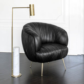 Kelly Wearstler ALMA FLOOR LAMP - BRASS w/ WHITE MARBLE