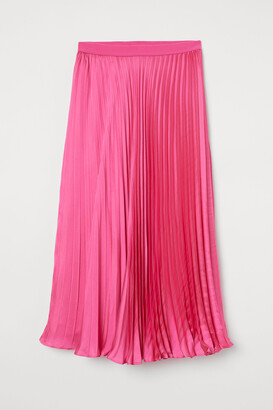 H&M Pleated satin skirt