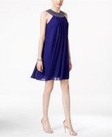 Vince Camuto Embellished Halter Trapeze Dress