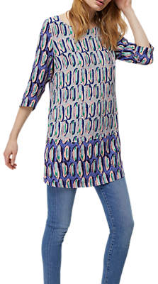 White Stuff Bird in Hand Tunic Top, Blue