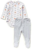 Angel Dear Baby Boys Newborn-6 Months Squirrel-Print Kimono Bodysuit & Striped Footed Pants Set