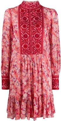 By Ti Mo Jacquard Floral-Print Dress