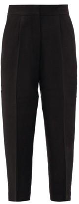 Petar Petrov Harvey Cropped Canvas Trousers - Black