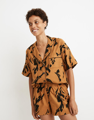Madewell Oversized Pajama Shorts in Abstract Tiger