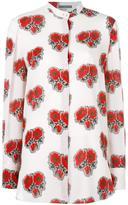 Alexander McQueen rose print shirt - women - Silk - 42