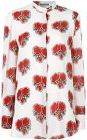 Alexander McQueen rose print shirt