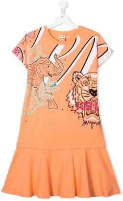 Kenzo Tiger motif dress