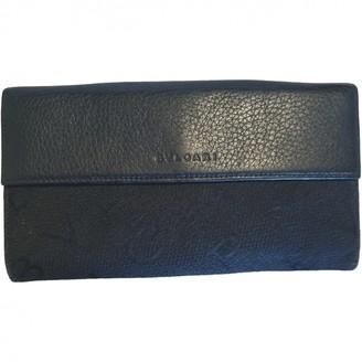 Bvlgari Black Leather Wallets