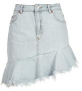 Topshop MOTO Asymmetric Hem Denim Skirt