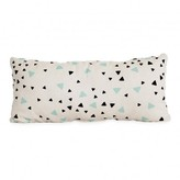 Nobodinoz Averell cotton cushion with rectangle balck and green triangles 52x24cm