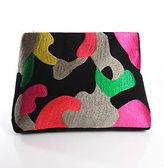 Moyna Multi-Color Abstract Print Clutch Handbag