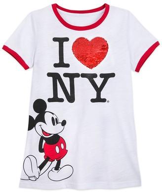 Disney Mickey Mouse I New York Reversible Sequin T-Shirt for Women New York City