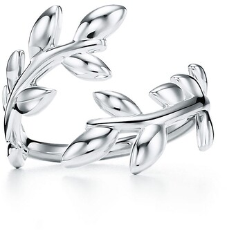 Tiffany & Co. Paloma Picasso Olive Leaf bypass ring in sterling silver