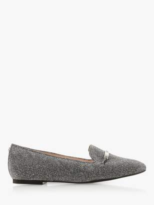 Dune Graced Leather Loafers, Pewter