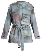 Acne Studios Liv P patch-pocket cotton-satin jacket