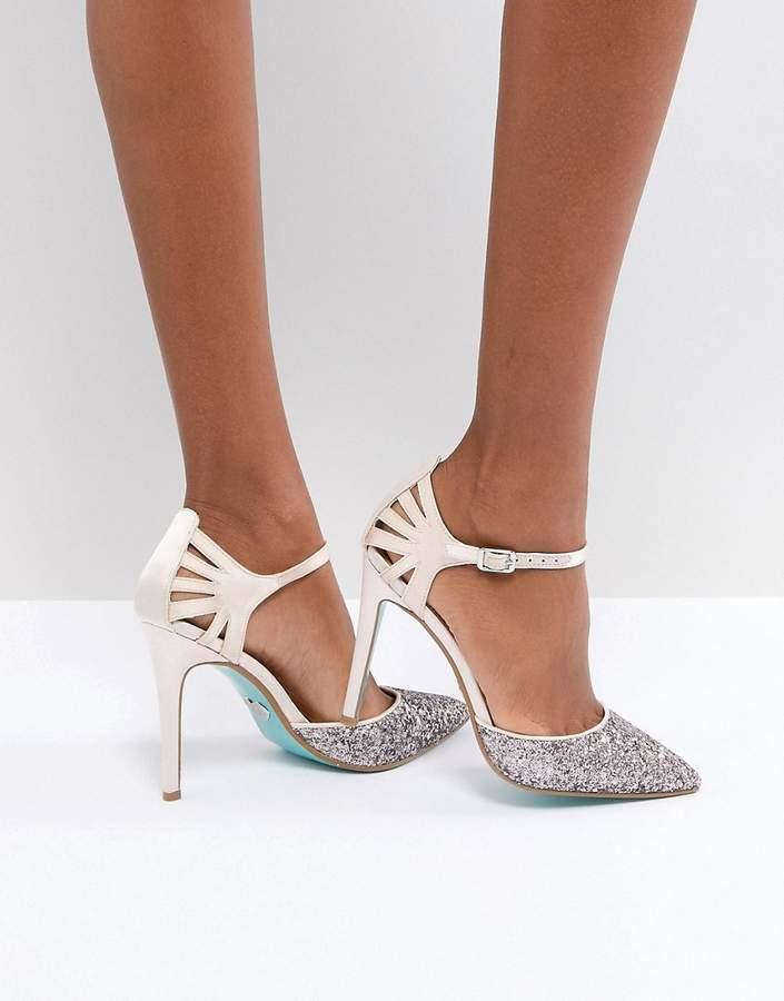 Betsey Johnson Blue By Blue By Betsy Johnson Blush Avery Heeled Wedding Shoes