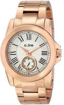 A Line a_line Women's AL-80021-RG-22 Amare Analog Display Japanese Quartz Rose Gold Watch