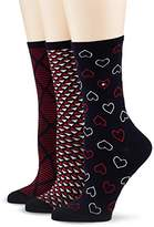 Tommy Hilfiger Women's TH Giftbox 3P Calf Socks,pack of 3