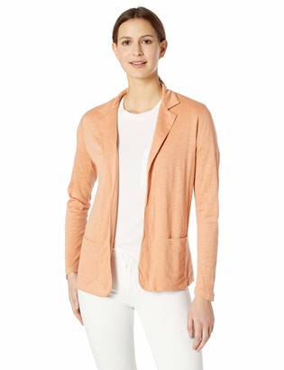 Majestic Filatures Women's Linen/Silk Long Sleeve Open Blazer