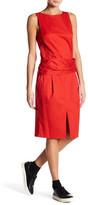 DKNY Sleeveless Dress with Gathered Waist