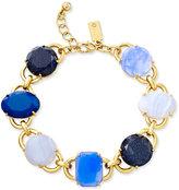 Kate Spade Gold-Tone Blue Stone Link Bracelet