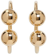 J.W.Anderson Gold Double Ball Hoop Earrings