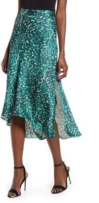 Leith High/Low Bias Midi Skirt