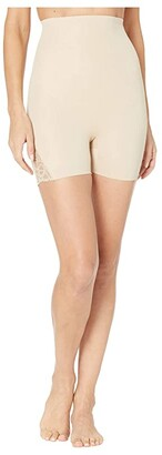 Miraclesuit Shapewear Shape Away(r) Alluring Lace High-Waist Boyshorts (Black) Women's Underwear