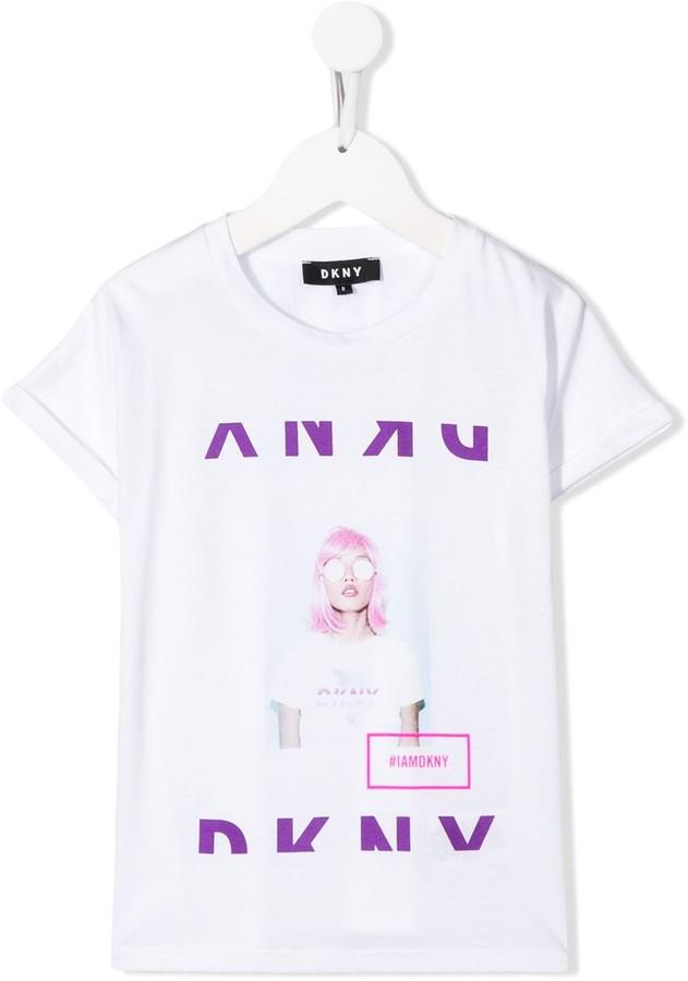 DKNY graphic logo print T-shirt