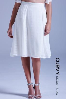 Little Mistress Curvy White Sheer Layered A Line Skirt