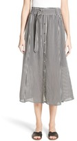 A.L.C. Women's Divya Stripe Midi Skirt