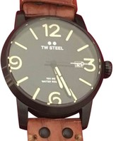 TW Steel Maverick MS32 PVD Coated Stainless Steel & Black Dial 48mm Mens Watch