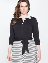 ELOQUII Plus Size Tie Button Down Crop Top