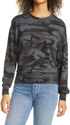 Rails Ramona Camo Print Cotton Blend Sweater