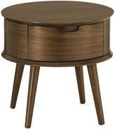 Life Interiors Bedside Tables Saturn Walnut Bedside Table