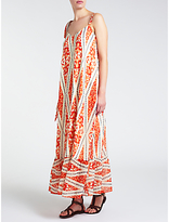 Somerset by Alice Temperley Deco Print Long Dress, Red