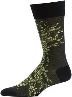 Ozone Men's Socks 19 - Black Circuit Break Socks - Men