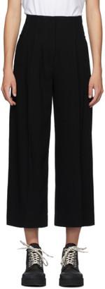 Proenza Schouler Black Textured Crepe Trousers