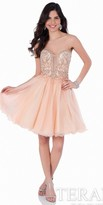 Terani Couture Embellished Tulle Strapless Homecoming Dress