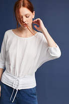 Bordeaux Corseted Boat Neck Tee