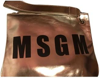 MSGM Silver Leather Handbags