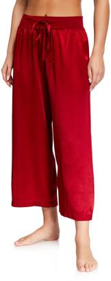 PJ Harlow Jolie Satin Crop Lounge Pants