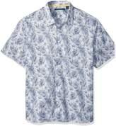 Perry Ellis Men's Big Short Sleeve Abstract Floral Print Shirt, -4CSW7652, 3XL Tall