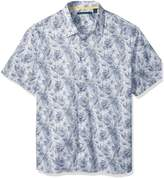 Perry Ellis Men's Tall Short Sleeve Abstract Floral Print Shirt, -4CSW7652