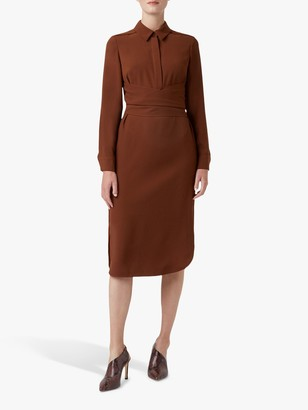 Hobbs Raegan Dress, Hazelnut