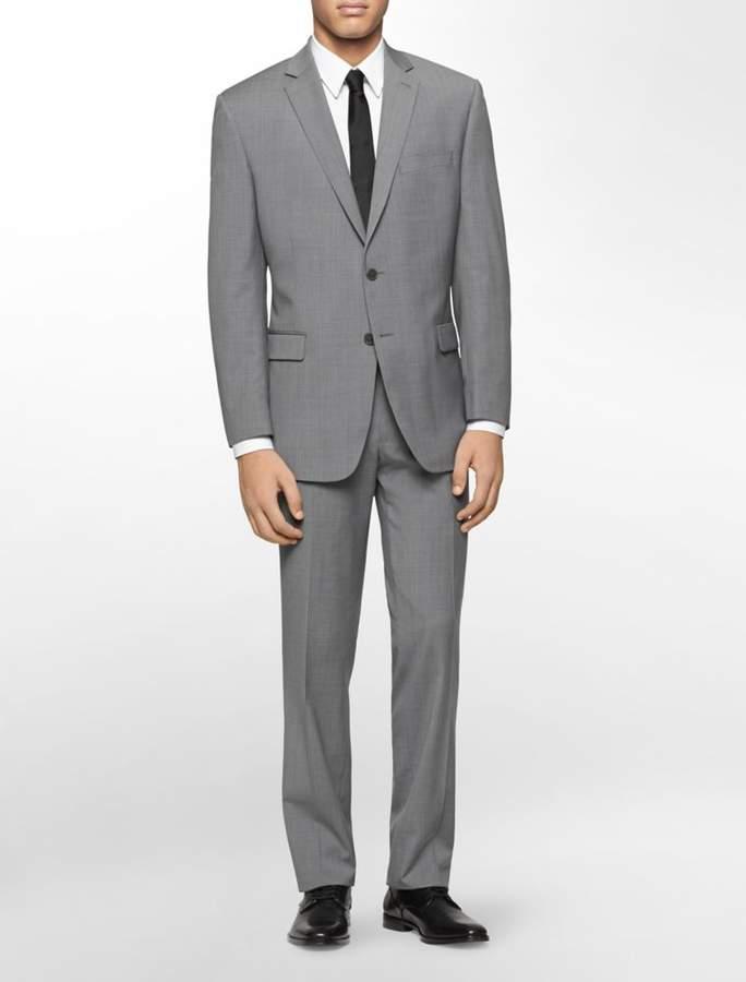 Calvin Klein classic fit grey plaid suit