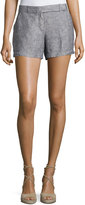 Max Studio Linen Shorts, Indigo