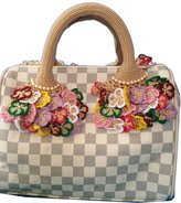 Louis Vuitton Crochet Handle Covers Louis Speedy Alma Trouville Montaign bb Popincourt Deauville Handbag Pink