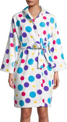 Dh Vibe Multicoloured Dot Cotton Robe